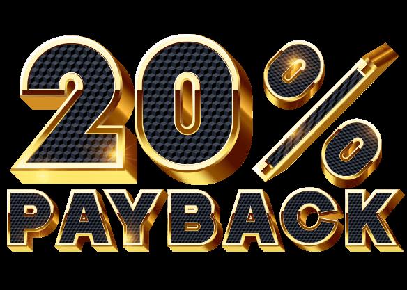 Claim 20% PAYBACK Bonus